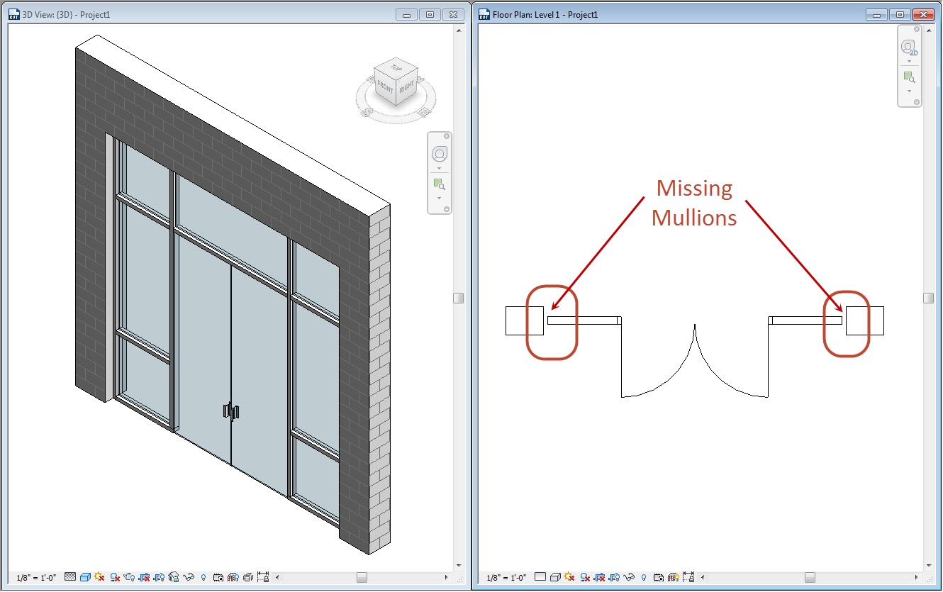 Revit Elevation Key Plan : Finding missing revit mullions ideate inc