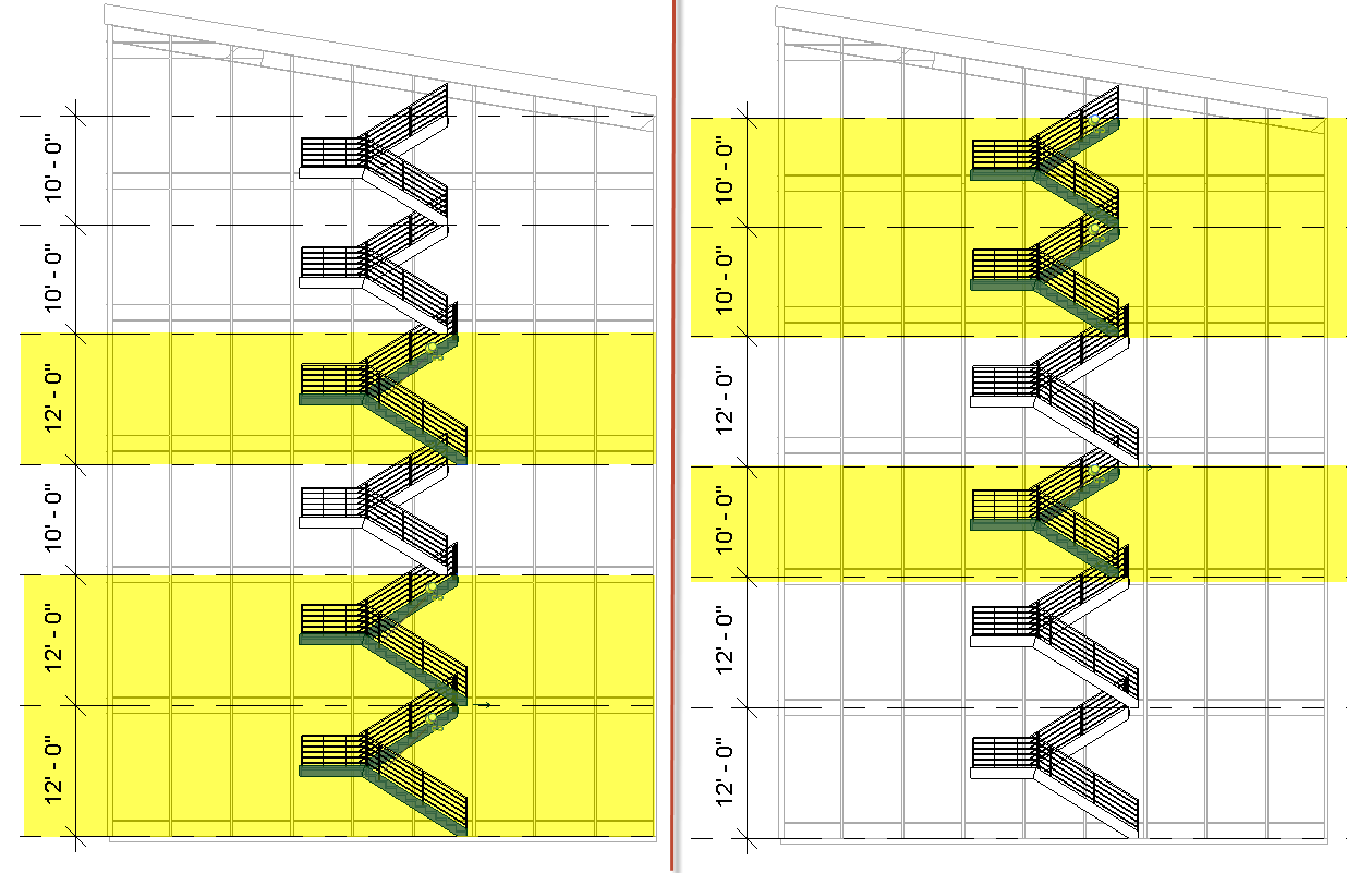 Revit 2018 Multistory Stair Improvements Products Diagram This Is Especially Helpful When Common Height Stairs Need To Use The Same Type Of Shape Or Starting Riser Position