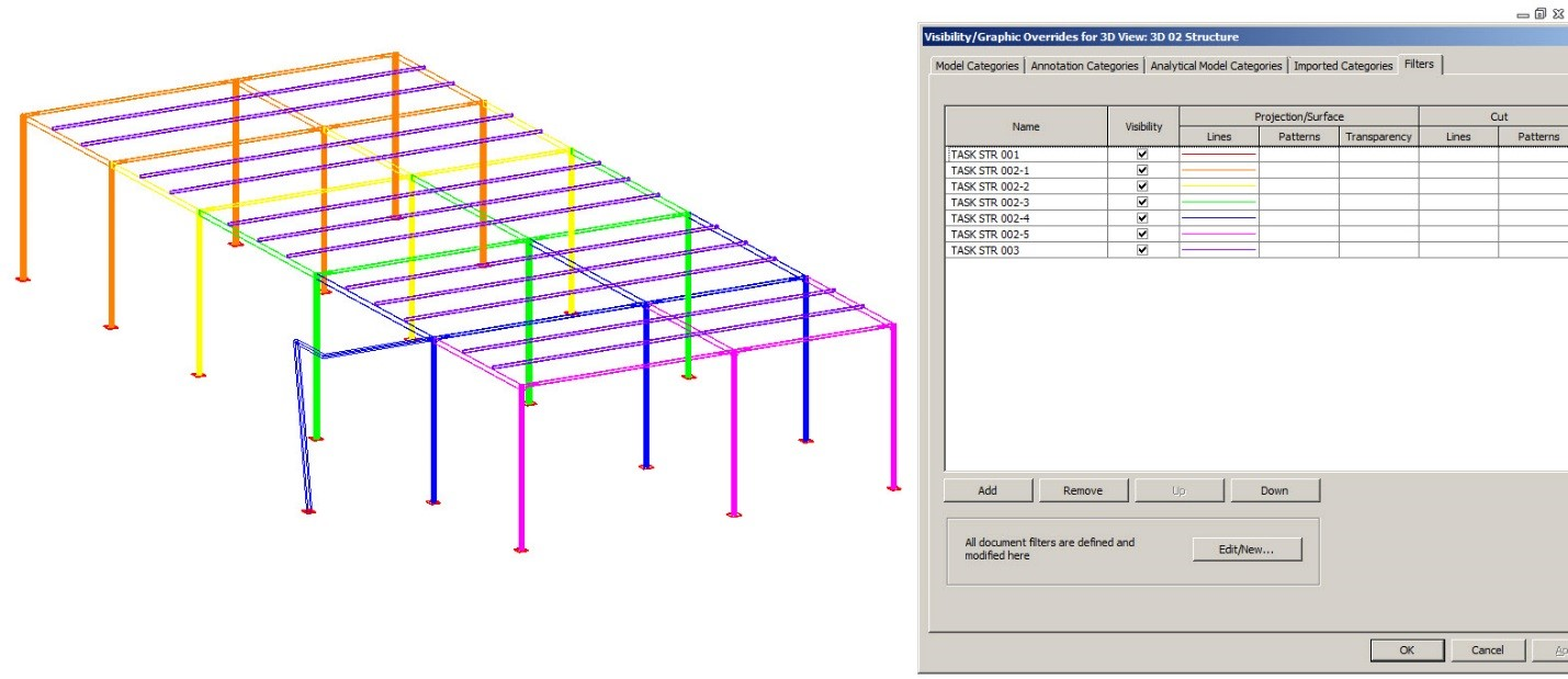 Revit Construction Sequencing: Task Name with View Filters | Revit